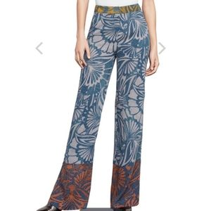Bcbgmaxazria Chris Wide Leg Floral Pants
